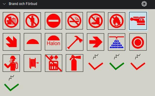 Symboler brand och förbud