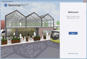 Sketchup sign in